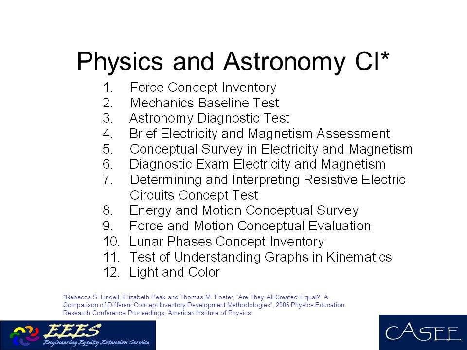 Physics and Astronomy CI*