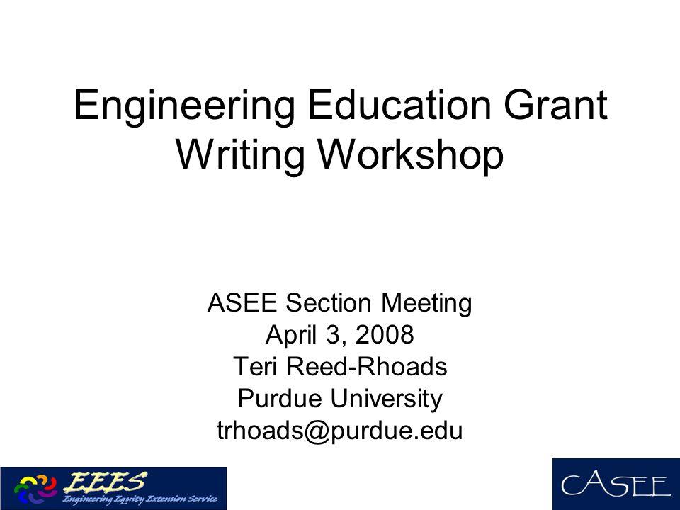 Engineering Education Grant Writing Workshop