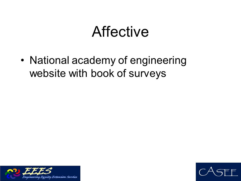 Affective National academy of engineering website with book of surveys