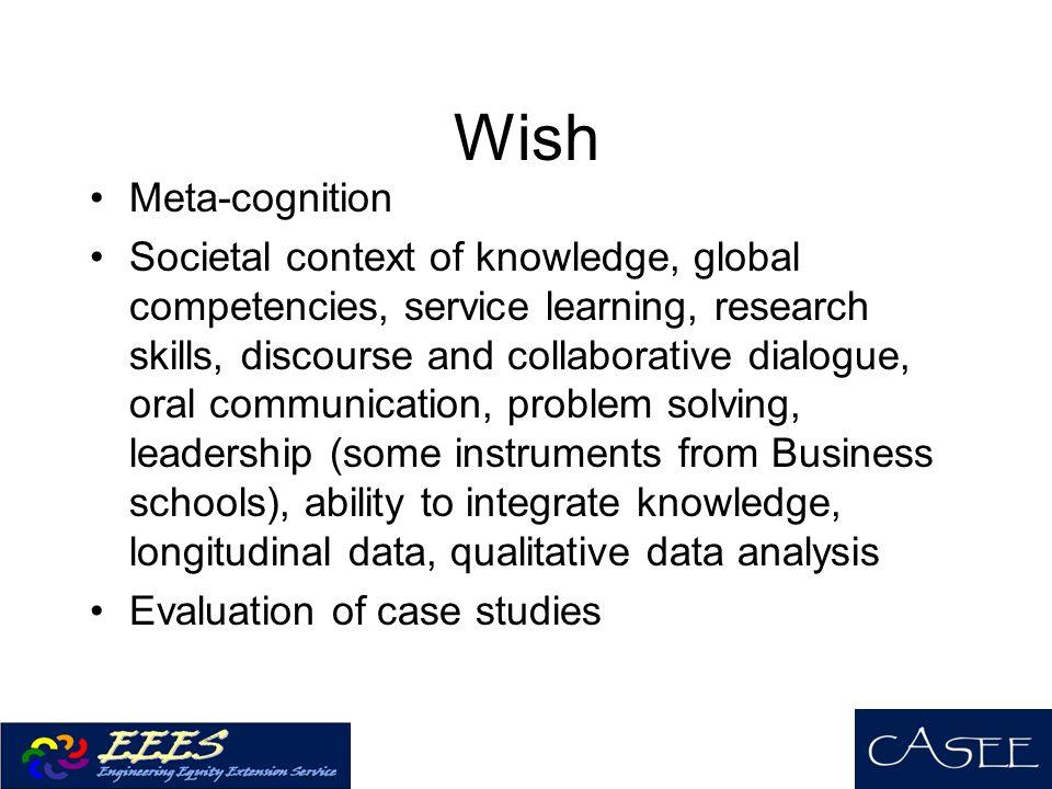 Wish Meta-cognition.