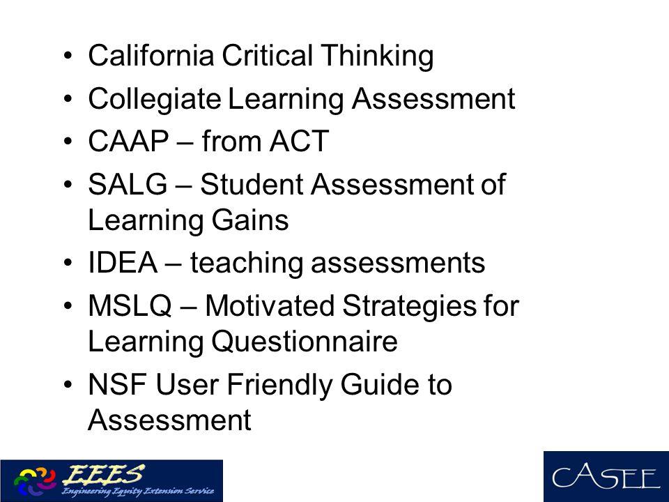 California Critical Thinking