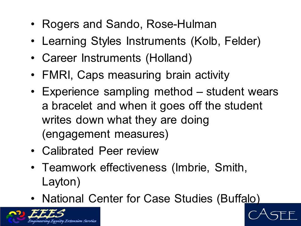 Rogers and Sando, Rose-Hulman