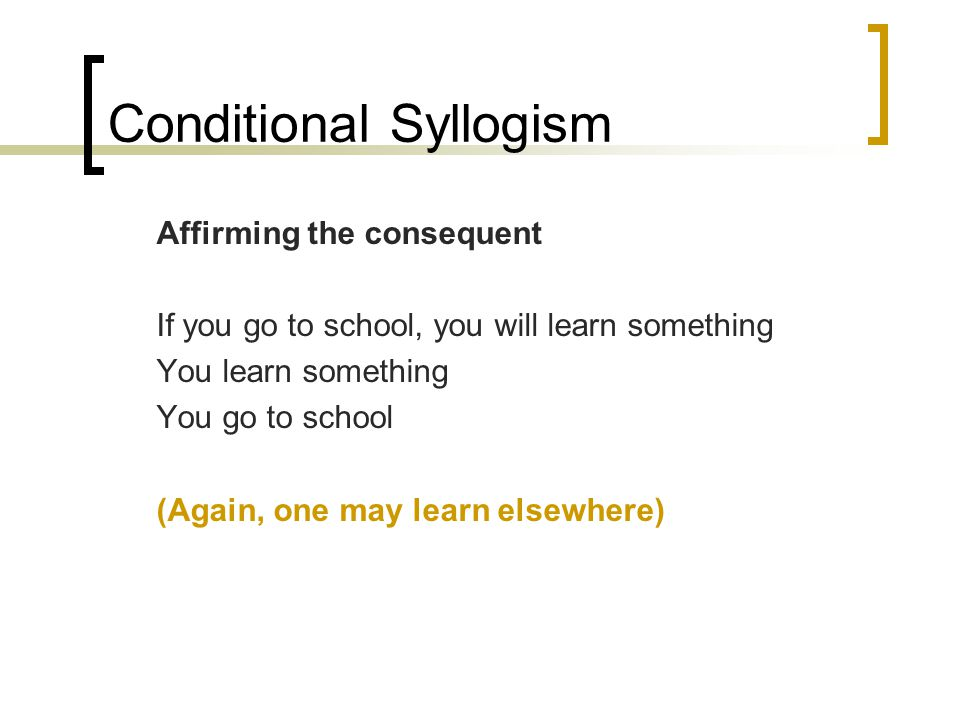 Conditional Syllogism