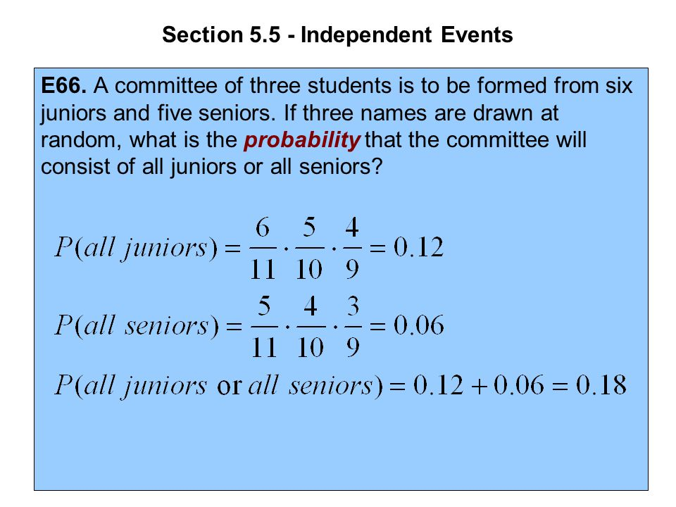 Section 5.5 - Independent Events