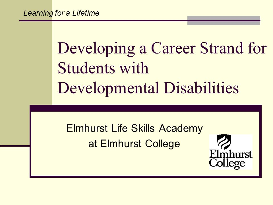 Elmhurst Life Skills Academy at Elmhurst College