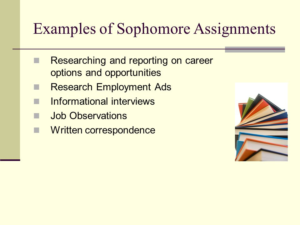 Examples of Sophomore Assignments