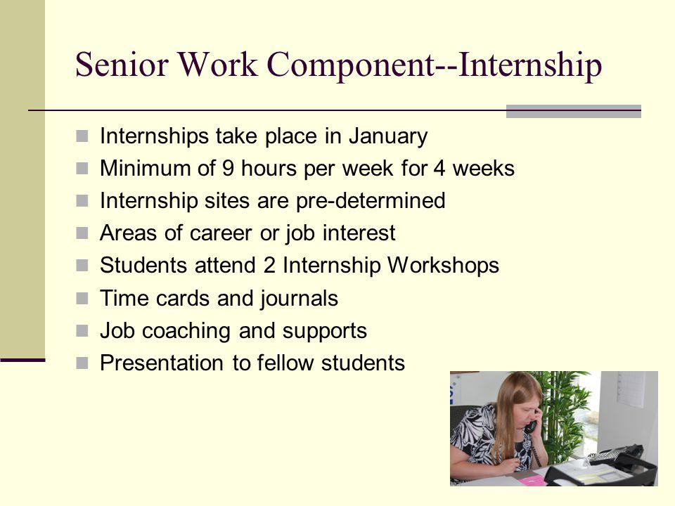 Senior Work Component--Internship