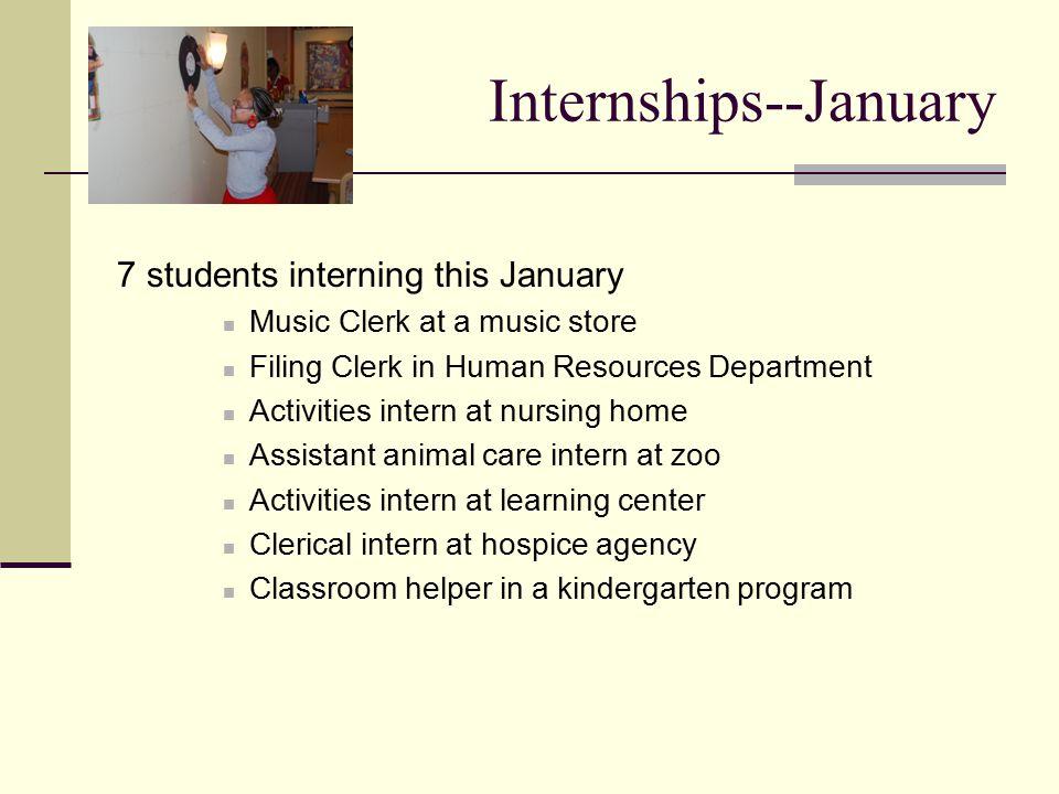 Internships--January