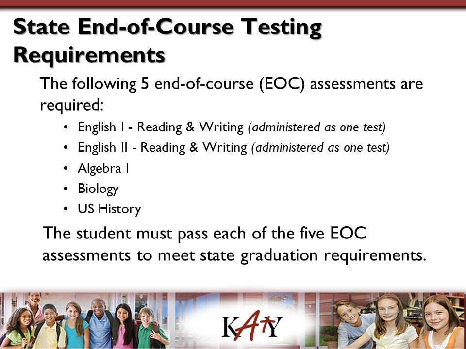 State End-of-Course Testing Requirements