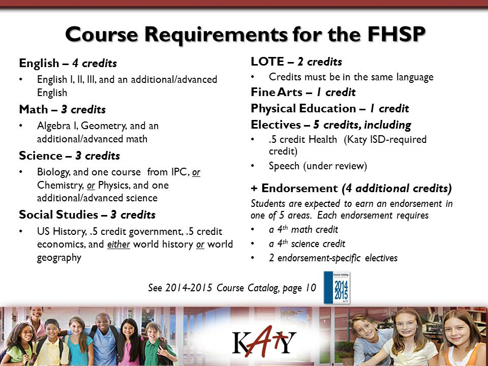 Course Requirements for the FHSP