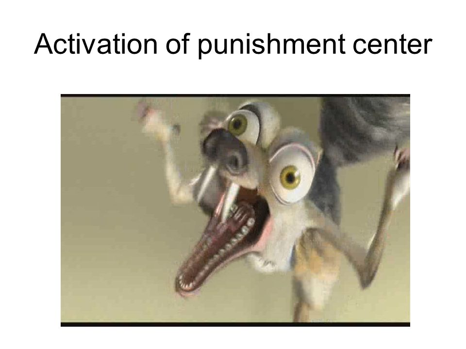 Activation of punishment center