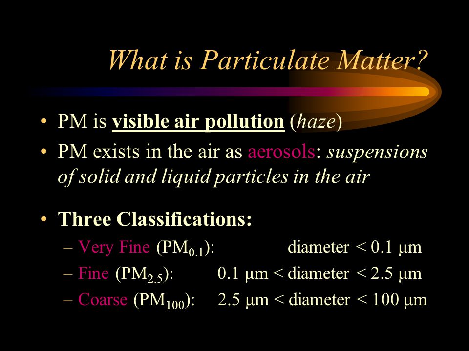What is Particulate Matter