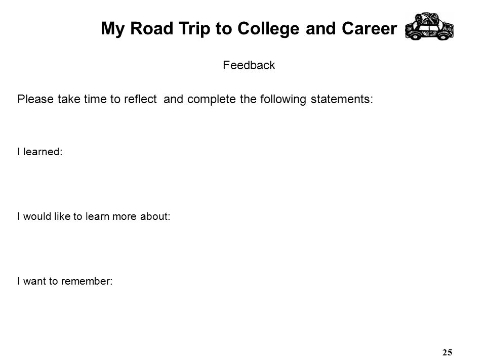 My Road Trip to College and Career