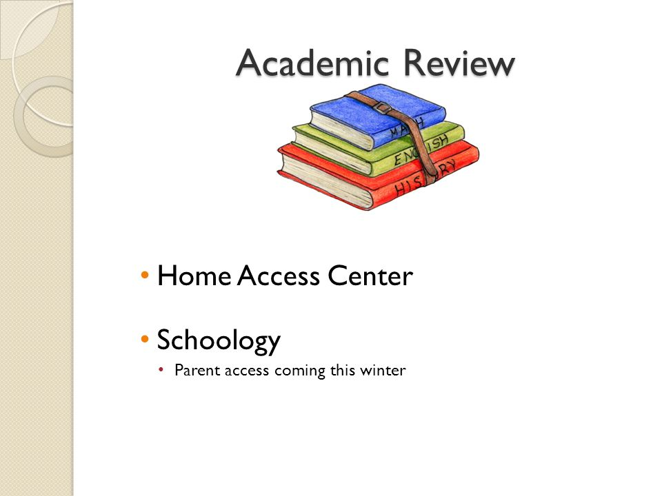 Academic Review Home Access Center Schoology