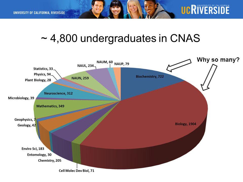~ 4,800 undergraduates in CNAS