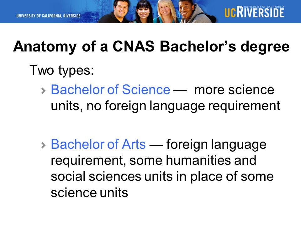 Anatomy of a CNAS Bachelor's degree