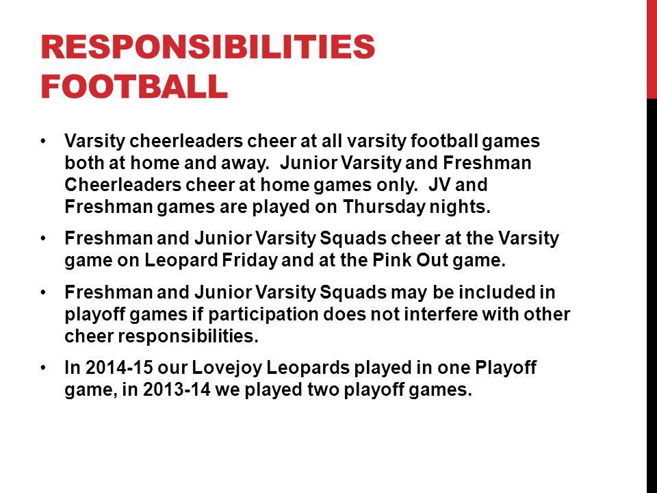 Responsibilities Football