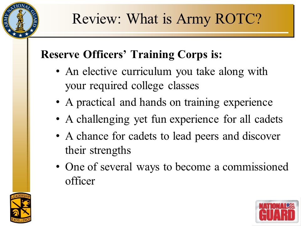 Review: What is Army ROTC
