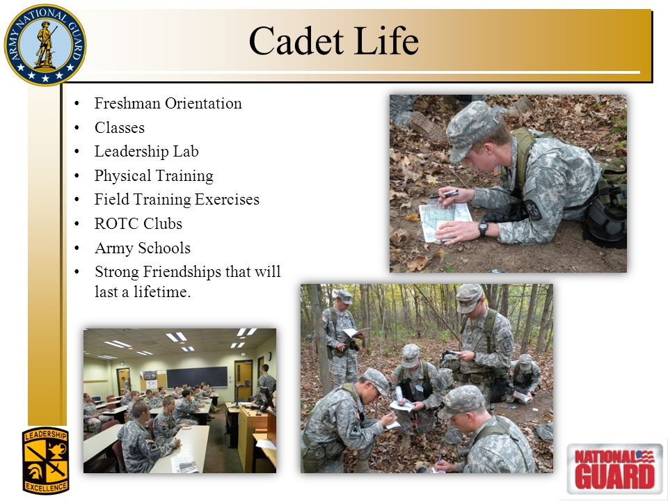 Cadet Life Freshman Orientation Classes Leadership Lab