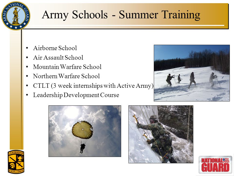 Army Schools - Summer Training