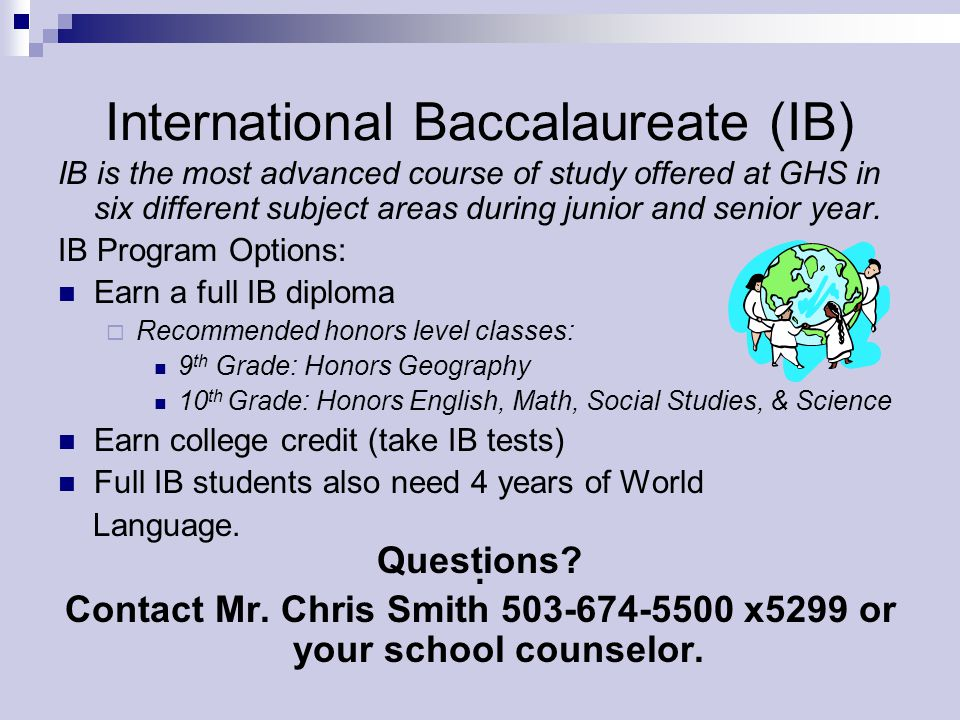 International Baccalaureate (IB)