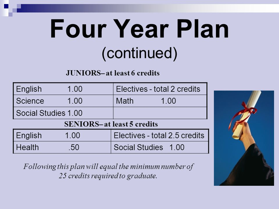 Four Year Plan (continued)