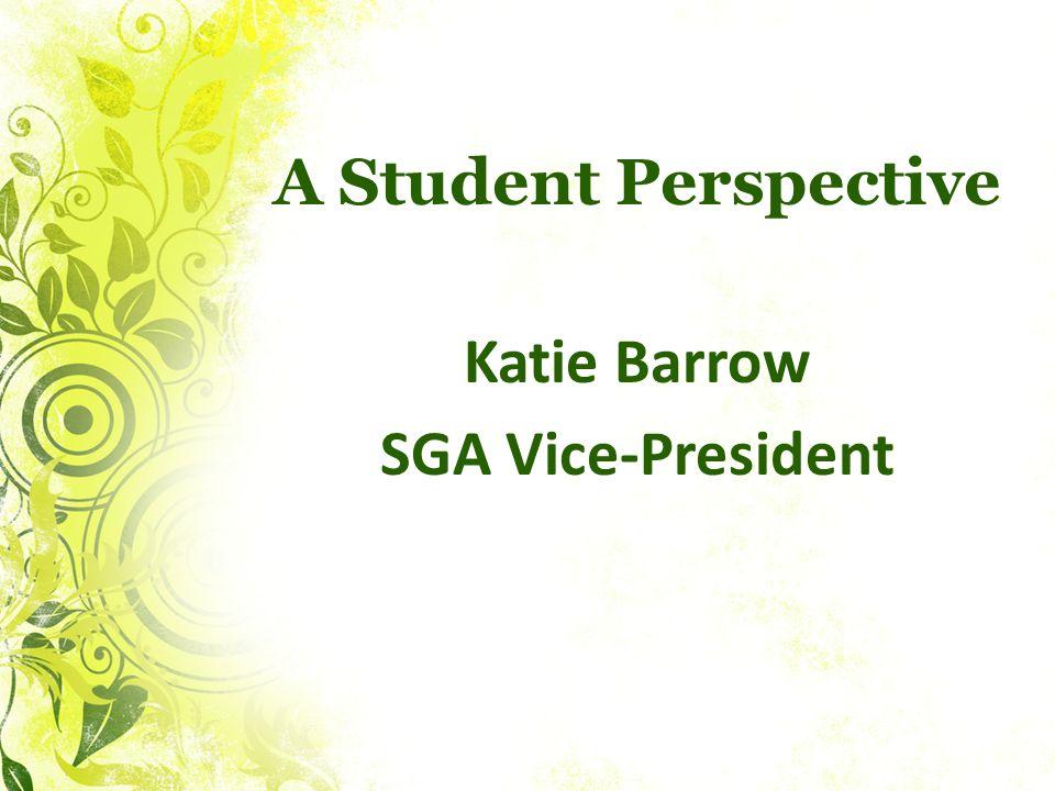 Katie Barrow SGA Vice-President
