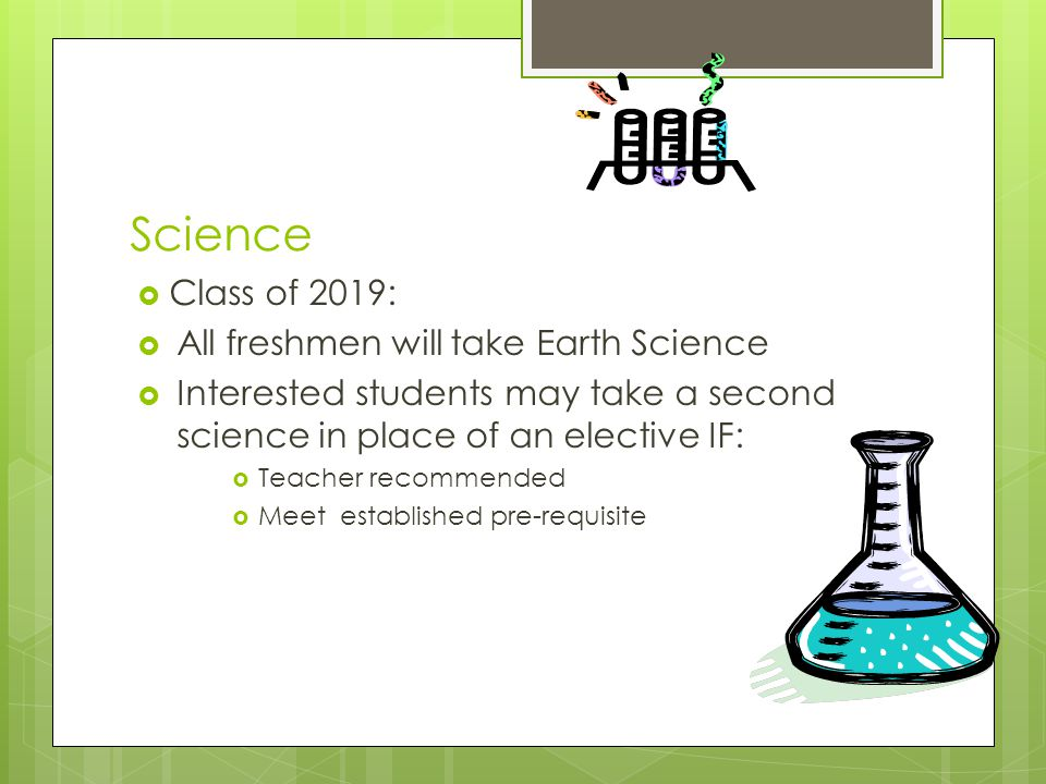 Science Class of 2019: All freshmen will take Earth Science