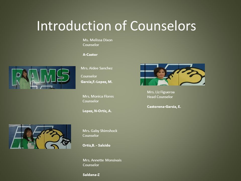 Introduction of Counselors