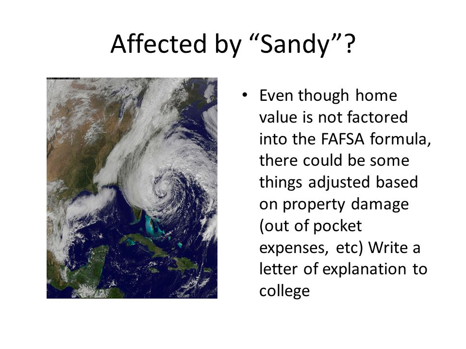 Affected by Sandy