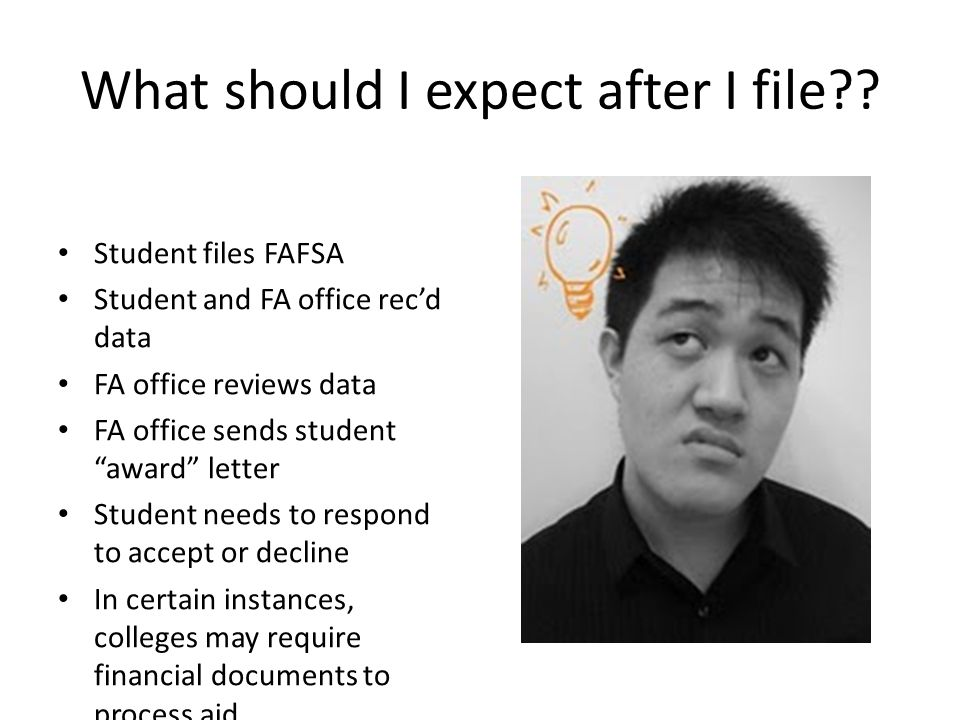 What should I expect after I file