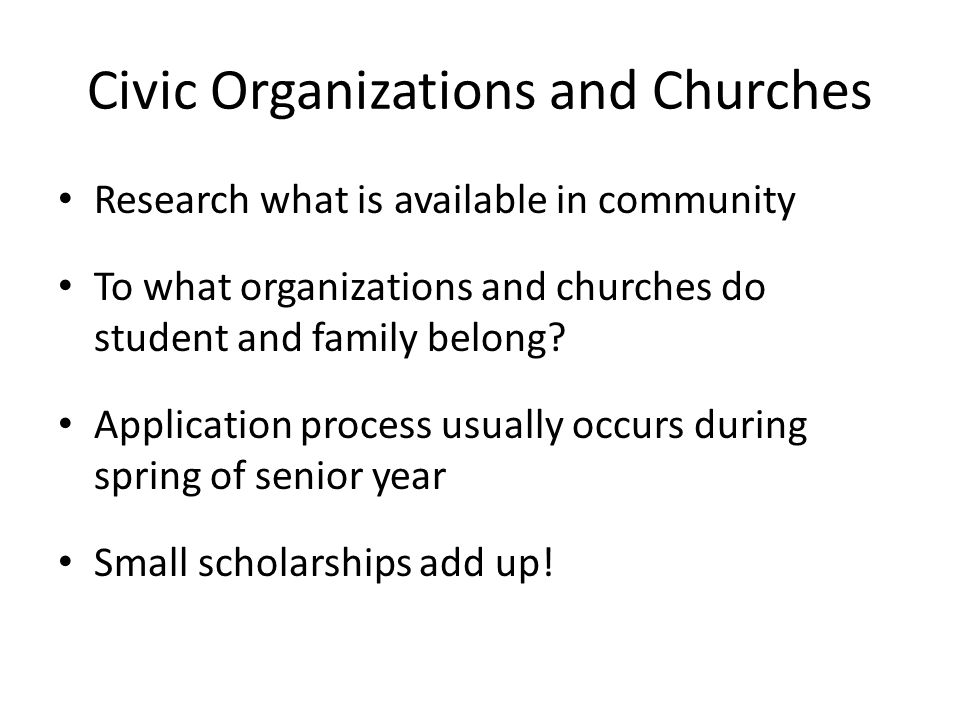 Civic Organizations and Churches