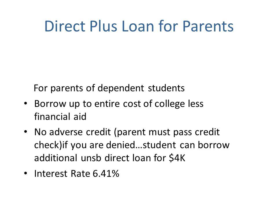 Direct Plus Loan for Parents