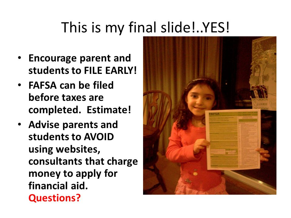 This is my final slide!..YES!