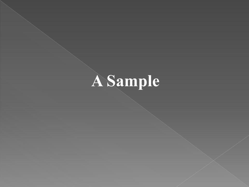 A Sample