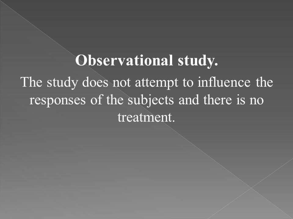 Observational study.