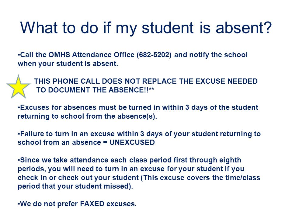 What to do if my student is absent