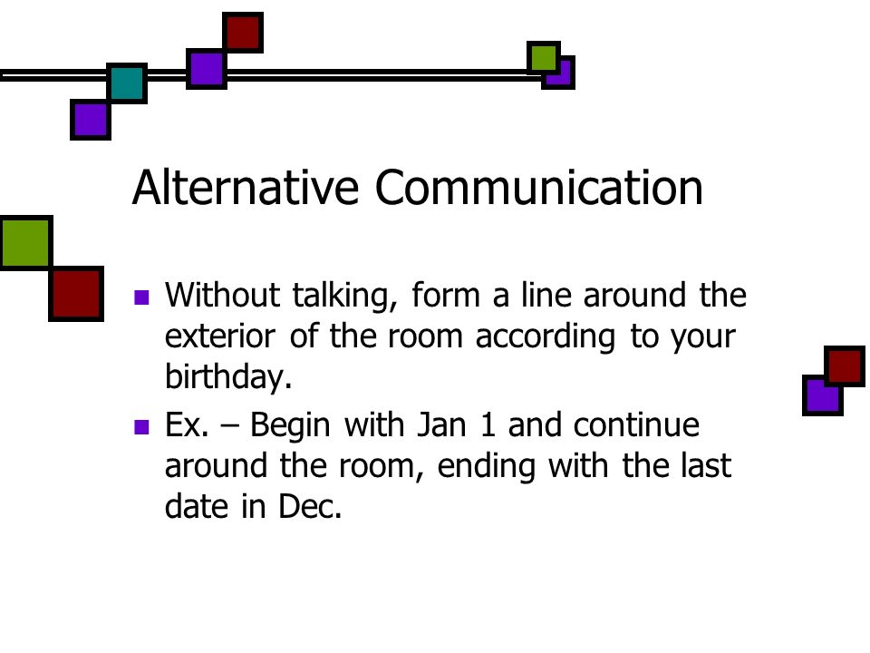 Alternative Communication