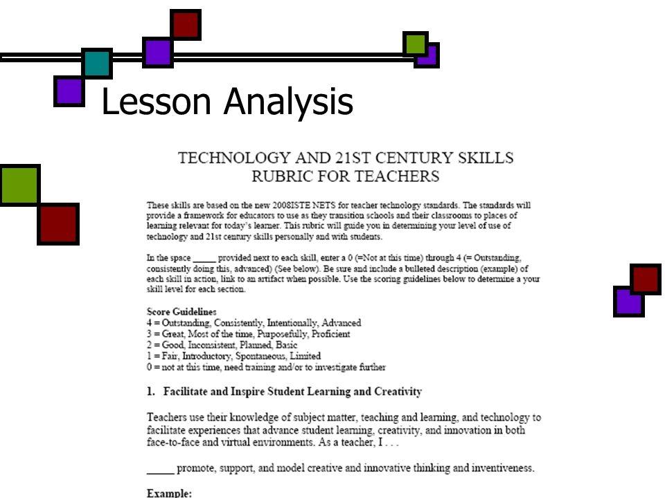 Lesson Analysis