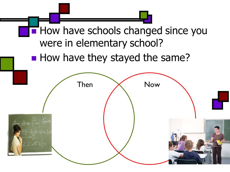 How have schools changed since you were in elementary school