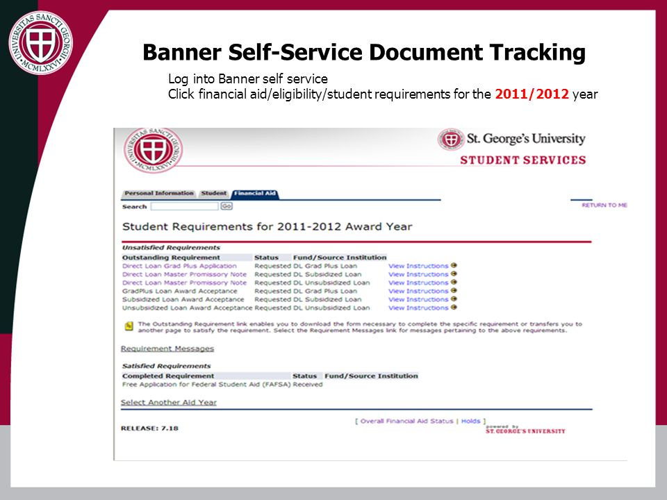 Banner Self-Service Document Tracking