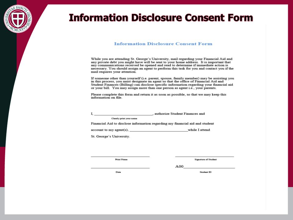 Information Disclosure Consent Form