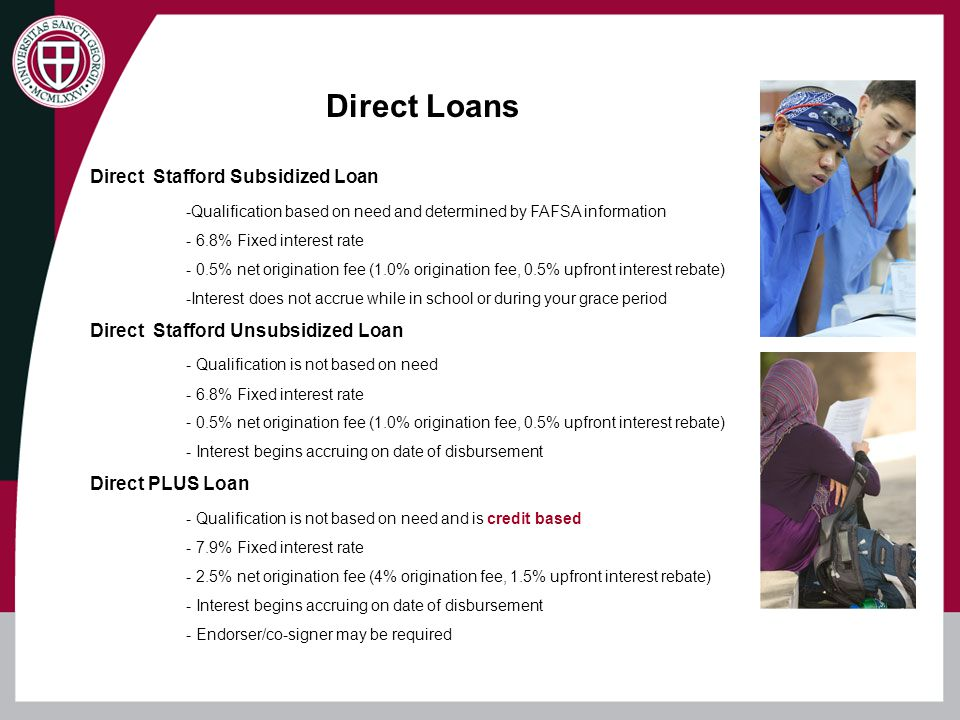 Direct Loans Direct Stafford Subsidized Loan