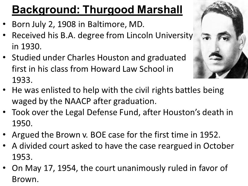 Background: Thurgood Marshall