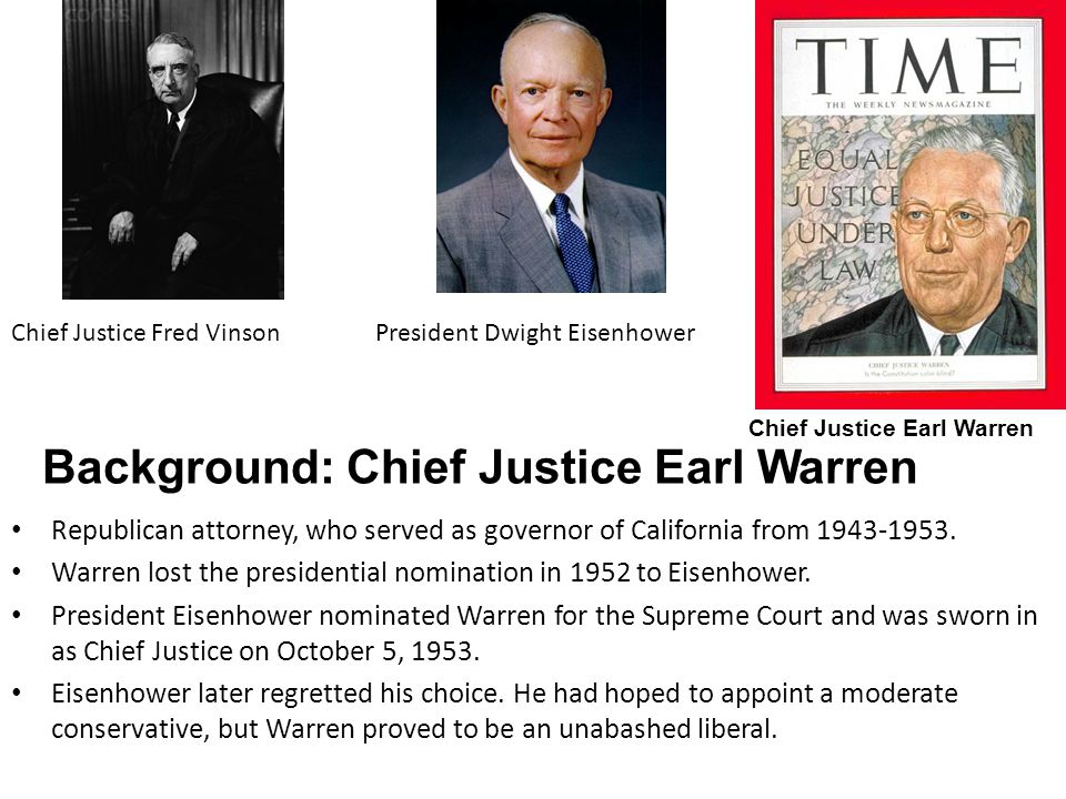 Background: Chief Justice Earl Warren