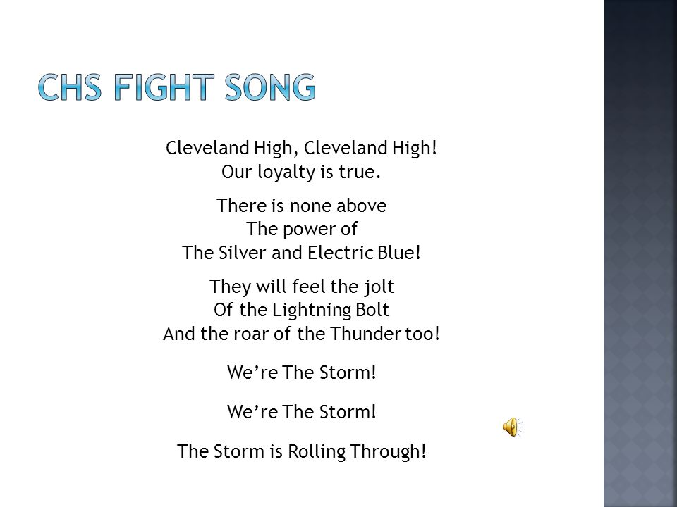 CHS Fight song