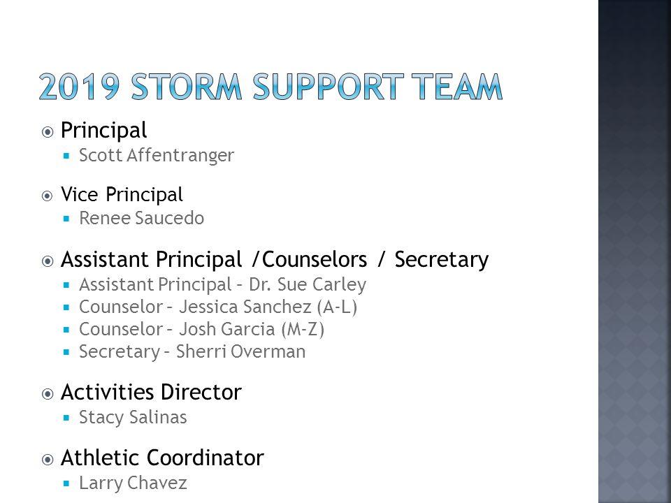 2019 Storm Support Team Principal