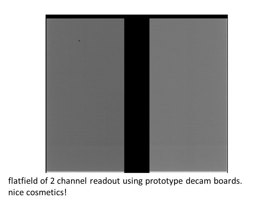 flatfield of 2 channel readout using prototype decam boards.
