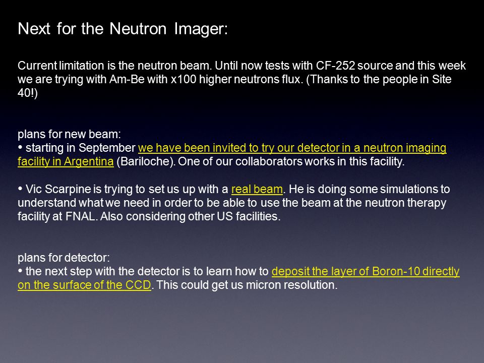 Next for the Neutron Imager: