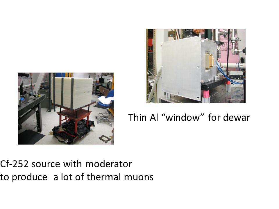 Thin Al window for dewar